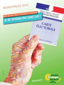 Affiche NPDC droit de vote des étrangers