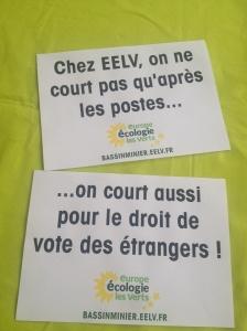 Dossards droit de vote étrangers