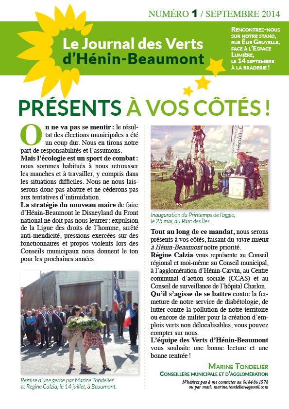 A h nin beaumont page 2 nouvelles du front - Le bureau henin beaumont ...