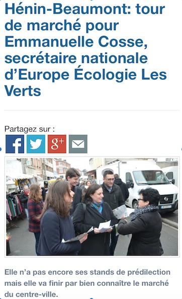 Article Voix du Nord Emma Marché d'Hénin