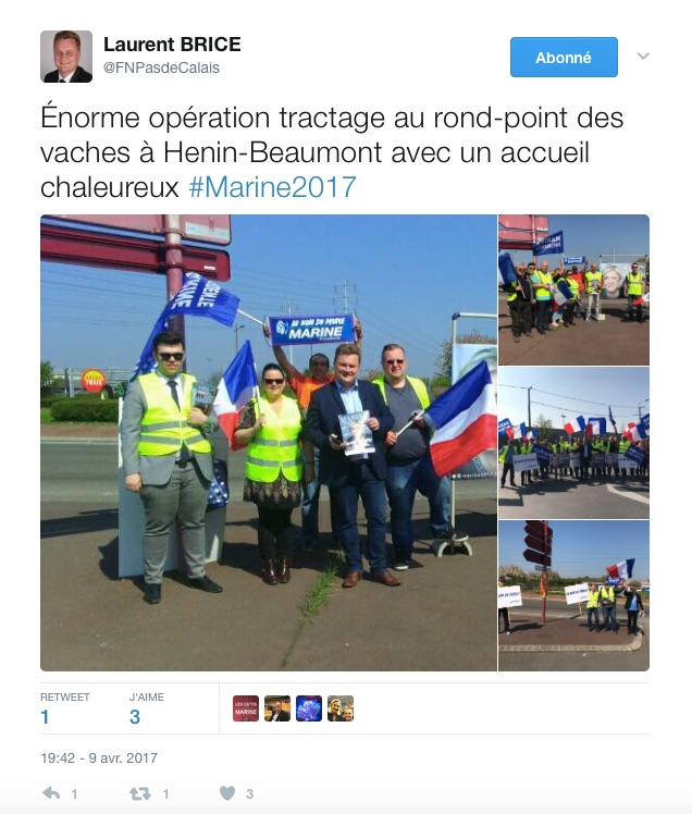 Brice tractage rond point des vaches