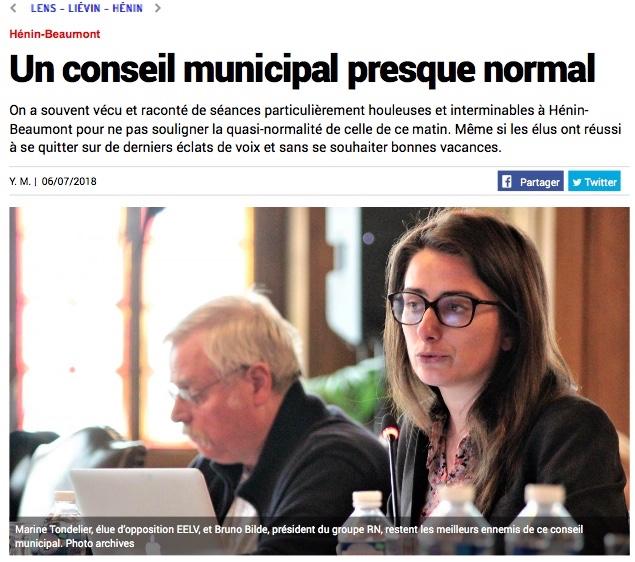 Un conseil municipal presque normal
